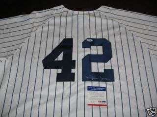 Mariano Rivera Yankees HOF PSA DNA Signed Jersey