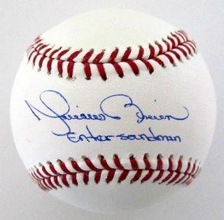 Mariano Rivera Signed MLB Baseball Yankees Enter Sandman PSA