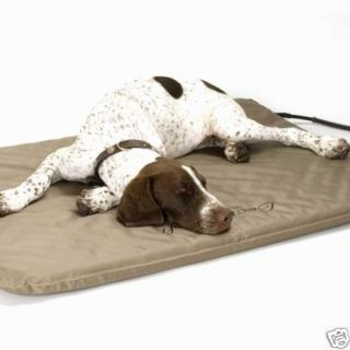 1090 LECTRO SOFT INDOOR OUTDOOR HEATED DOG BED WITH FAUX FLEECE