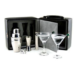 Martini Travel Bar Set with Case Cocktail Kit