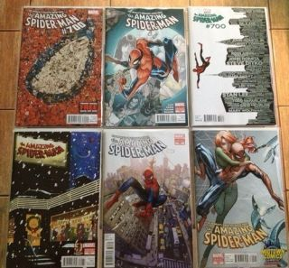 SPIDER MAN 700 COMPLETE VARIANT SET 6 MIDTOWN CAMPBELL RAMOS MARTIN