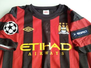 Mario Balotelli Signed Manchester City Match Worn Player Issue Shirt