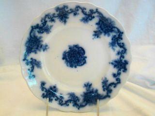 Flow Blue Upper Hanley Pottery Martha Pattern Plate