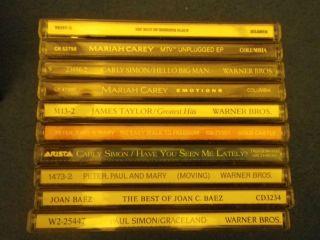 CDs Mariah Carey Paul Simon James Taylor Peter Paul Mary Roberta Flack