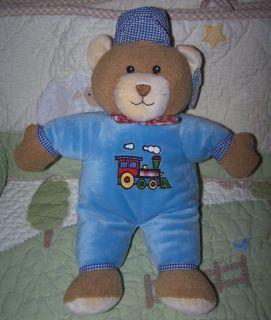 Mary Meyer Baby Choo Choo Train Engineer Teddy Bear w Hat