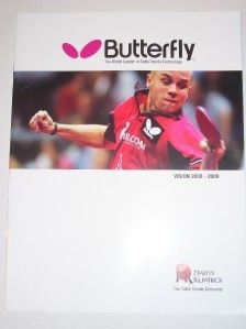 Martin Kilpatrick Butterfly Table Tennis Catalog 2009