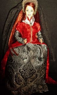 Queen Mary I of England Bloody Mary OOAK Barbie Doll