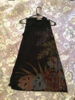 Forever 21 Black with floral print dress Size small juniors, Free