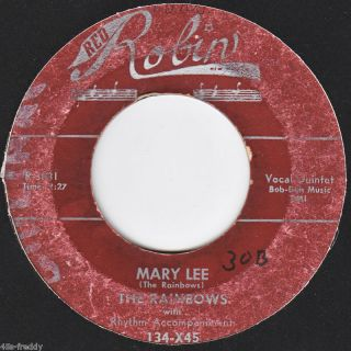 Rainbows 45 Mary Lee Evening Doo Wop Poor