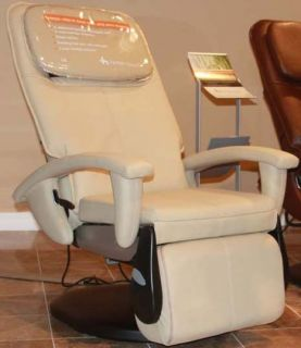 Cream HT 100 Human Touch Robotic Massage Chair Recliner