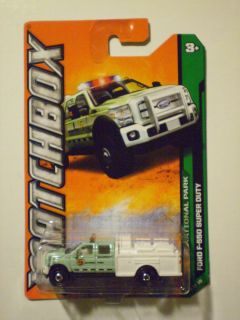 MATCHBOX 2012 MBX National Park FORD F 550 SUPER DUTY light green