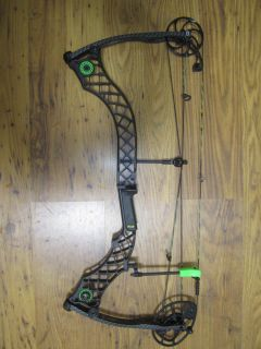 Mathews Helim Blackout Tactical with Green Accessories