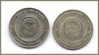 Dream Martin Luther King United We Stand Caesar Chavez Coin