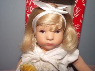 Beautiful Kathe Kruse Doll in Box with Teddy Bear
