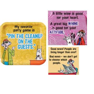 Maxine Cartoon Comic Adult Humorous Funny Party Supplies Tableware