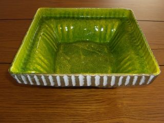 MAURICE OF CALIFORNIA POTTERY Square Ftd Bowl Planter Vase USA G 22