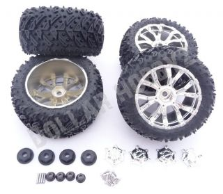 Ten T Truggy * 4 WHEELS & TIRES w/CAPS* 14mm Rims 320 Zombie Max Force