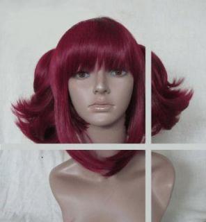 Black Butler Kuroshitsuji Maylene Ponytails Red Cosplay wig Party Full