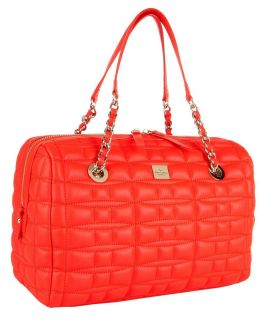 Kate Spade Maxie Quilted Leather Doctors Satchel Bag Flame Red $428
