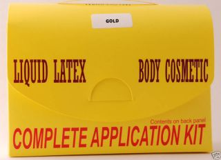 Gold Liquid Latex Application Kit from Maximum Impact