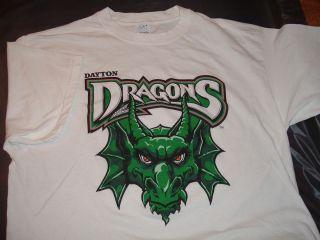 Dayton Dragons Minor League Baseball Team Logo Mascot XL T Shirt Ohio