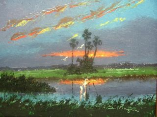 Maynor Highwaymen Painting 8 x 10 Florida Landscape Art