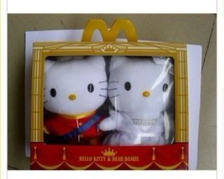 China McDonalds 2012 Hello Kitty Valentines Day Plush Toys Box