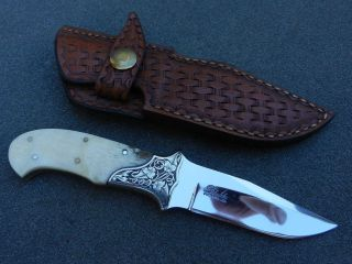 Holder Julie Warenski Engraved Phoenix AZ Boot Knife Custom Knives