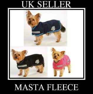 New Masta Fleece Dog Coat Pink Navy or Black Keep Your Pet Warm This