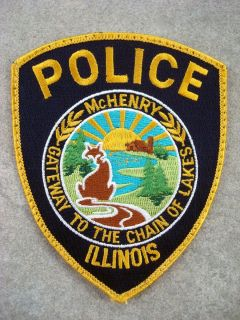McHenry Illinois Police Department Uniform Patch Used