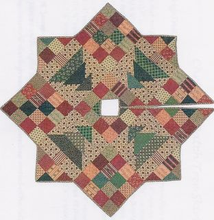 Christmas Patch Tree Skirt by C McCourt Quilt Designs