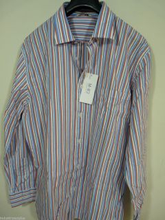 New M 82 by George McCracken Long Sleeve Button Front Striped Shirt XL