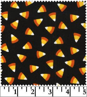Seen on Halloween Maywood Studio Candy Corn Fabric BTHY