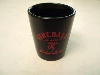 One New Fireball Whiskey Ceramic Shot Glass Letter E
