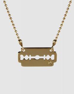 Alexander McQueen McQ Gold Metal Razor Blade Necklace