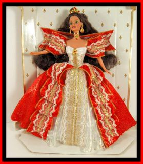 Mattel Barbie Happy Holidays Doll 1998 10th Anniv New