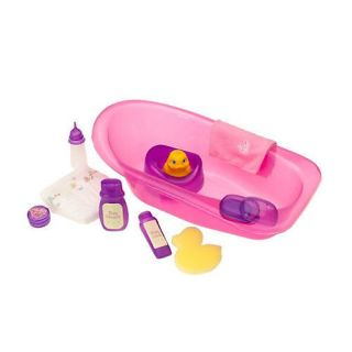 You Me Bath Tub for 16Baby Dolls Includes Accessories Rubb Pink Tub