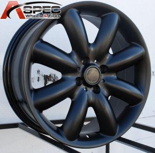 17x7 Matt Black Mini Cooper s 8 Spoke Wheel Rim 4x100