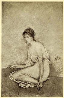 1911 Print James Abbott McNeill Whistler Art Seated Woman Figure