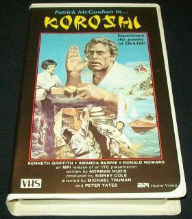 Koroshi The Secret Agent Patrick McGoohan Yates MPI Home Video Rare