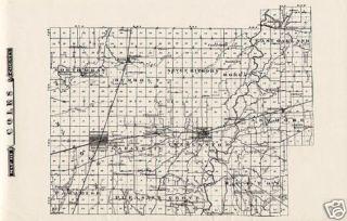 Coles County Illinois 1876 Map Mattoon