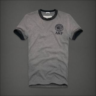 ABERCROMBIE FITCH Heather Grey MEACHAM LAKE T Shirt MENS 2XL XXL NEW