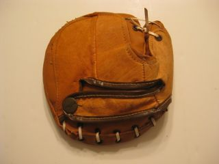 Vintage McKinnon Leather Boys League Catchers Mitt Baseball Glove