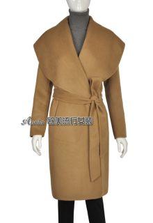 Max Mara Camel Wool Cashmere Coat Camel Black Size s M L