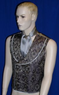 Rare Dr Who 8th Dr Paul McGann Paisley Brocade Vest Waistcoat Costume