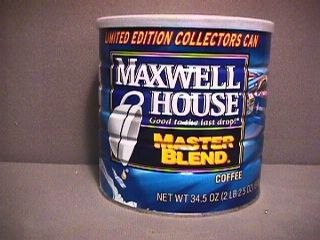 MAXWELL HOUSE COFFEE CAN LIMITED EDITION COLLECTORS CAN MARK MARTIN