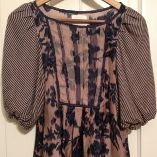 Anthropologie McGinn Silk Blouson Blouse XS Small