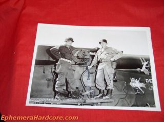 Military Photo Col Edward McGrew Col Troster 280mm Atomic Filed Gun