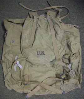 Original 1942 Meese U s Army Back Pack Complete Nice