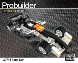 Mega Bloks Probuilder Carbon Race Car 3274 New Pro Builder